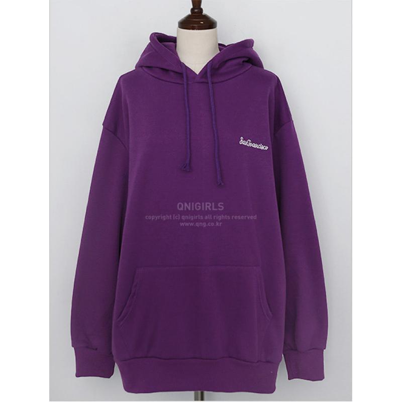 Qnigirls Long Hoodie - Purple