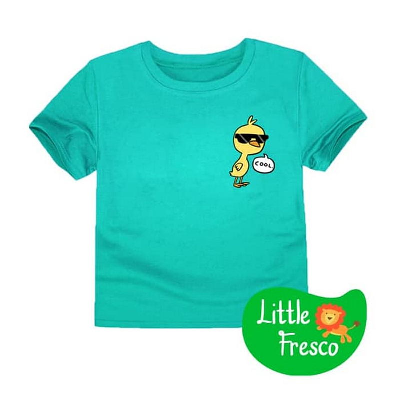 Little Fresco - Kaos Anak Cool Chick Hijau Muda