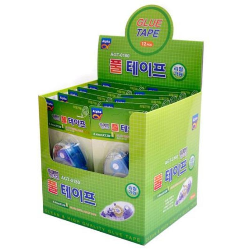 Alpha Glue Tape Agt-0180 8.4Mm X 12M (12 Pcs)