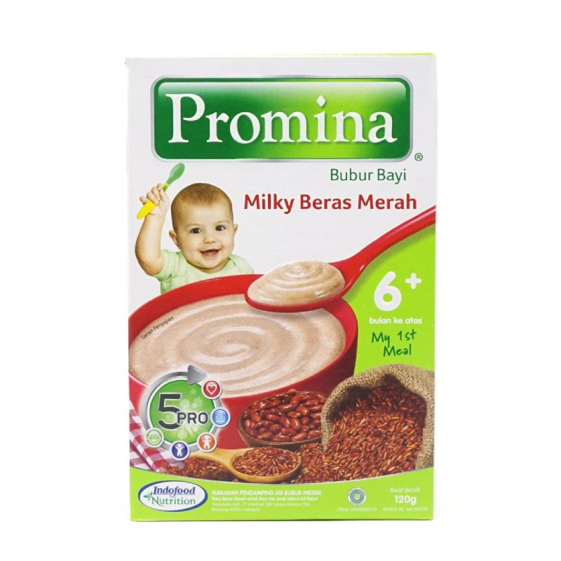 Promina Bubur Bayi Rasa Milky Beras Merah 120 Gr