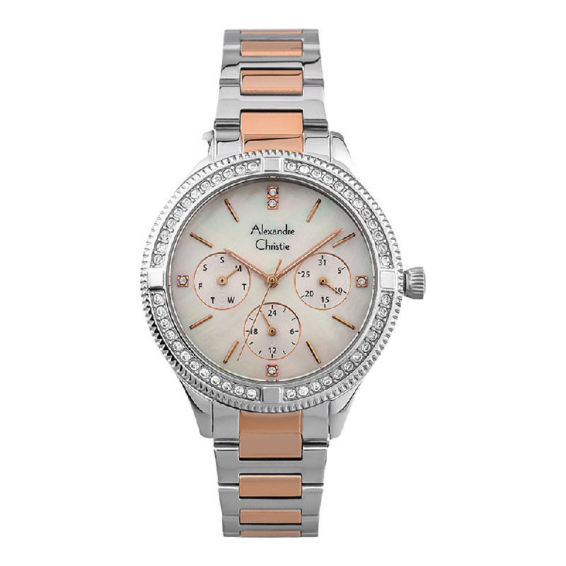 Alexandre Christie AC 2771 BF BTRMS Ladies Mother Of Pearl Dial Dual Tone Stainless Steel