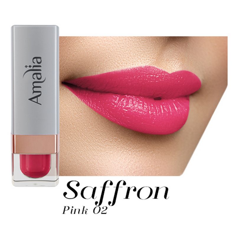 Amalia Satin Lipstick Saffron Pink 02
