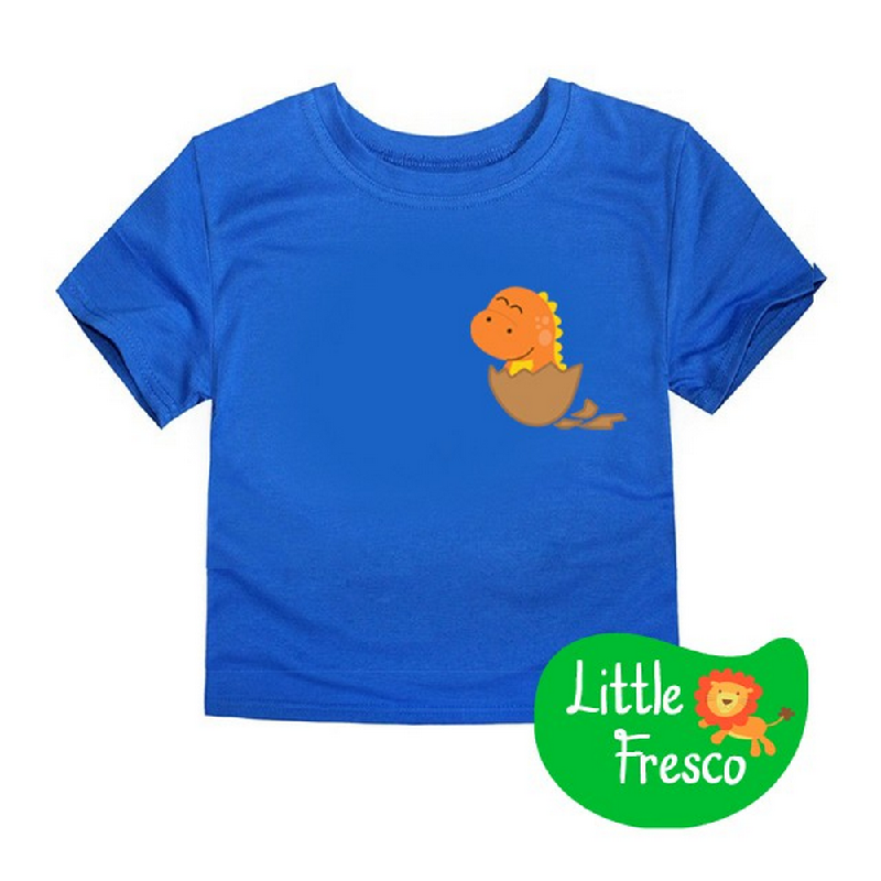 Little Fresco - Kaos Anak Baby Dino Biru