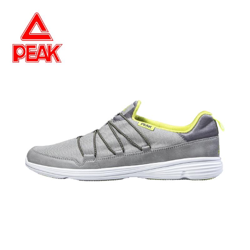 Peak Casual Shoes E43991E Paloma Grey Acid Green