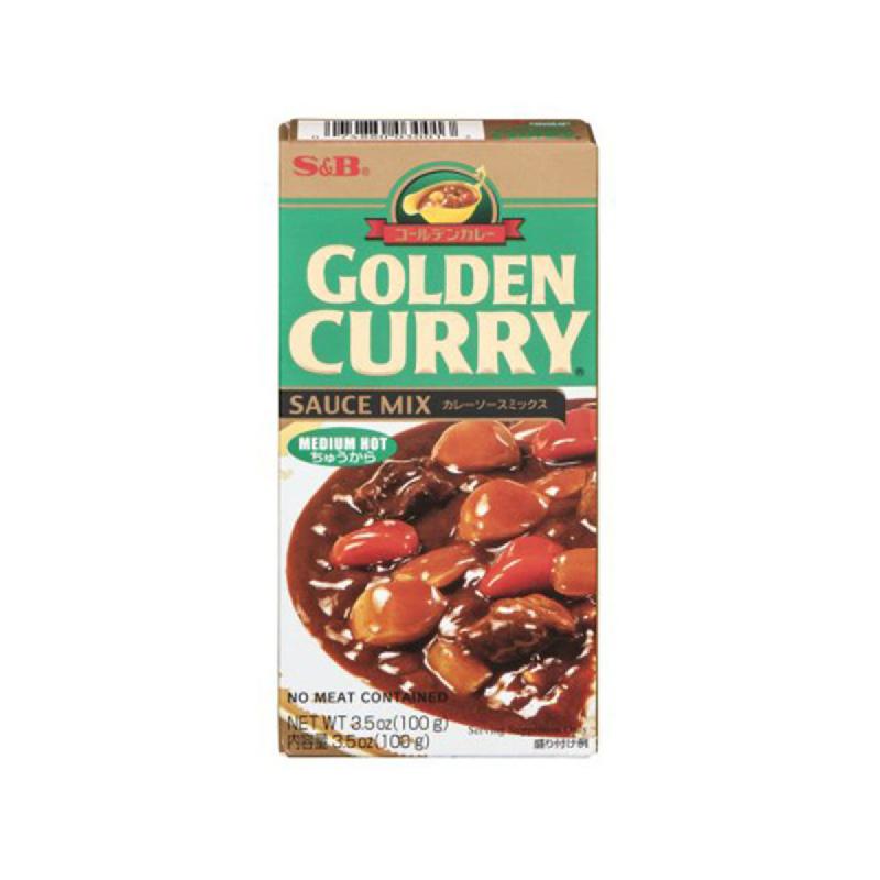 S & B Golden Curry Sauce Mix Hot 100 Gr