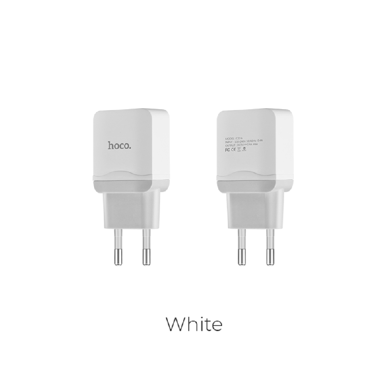 HOCO Charger + Micro Cable C22A White