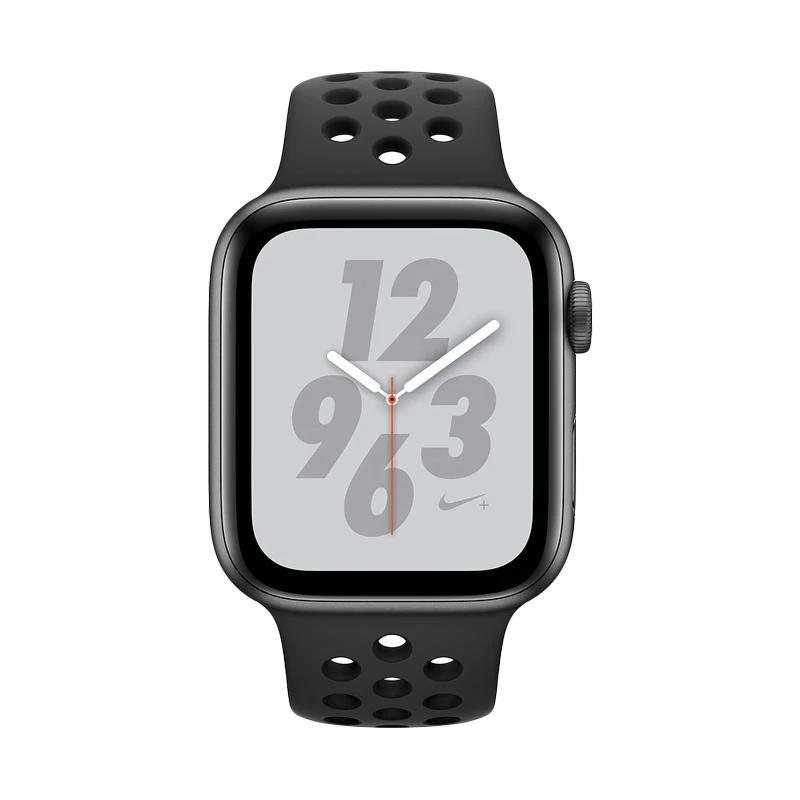 Apple Watch Series 4 Nike+ 44mm Silver+Black Sport Alumunium MU6K2 - Nike Silver