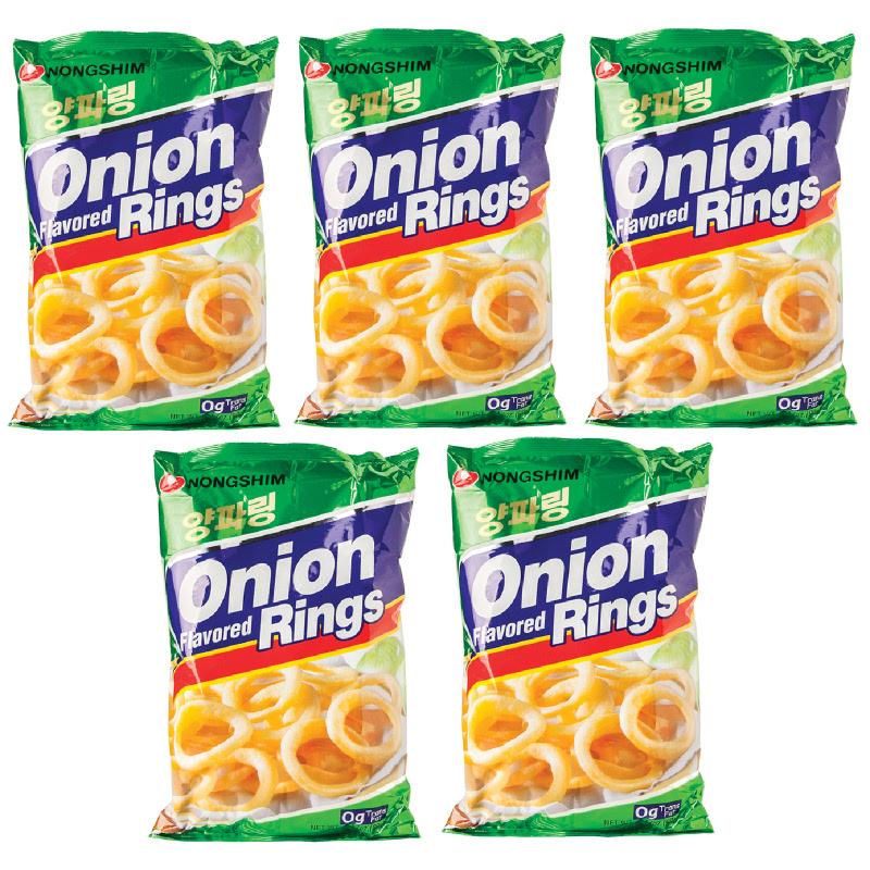 Nongshim - Onion Ring Snack Rasa Bawang 90 gr 5 Pcs