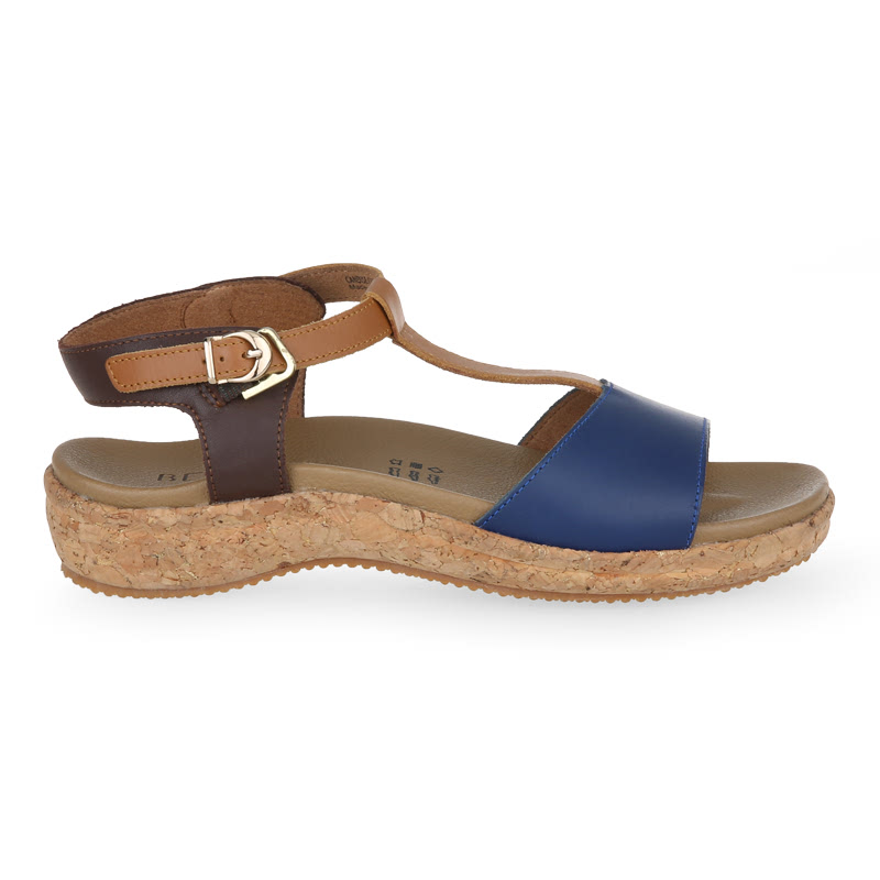 Beajove Candice Wedges Sandal Navy
