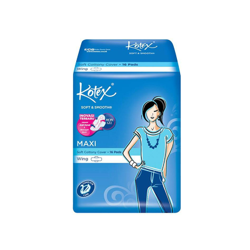 Kotex Soft & Smooth Maxiwing 16 S