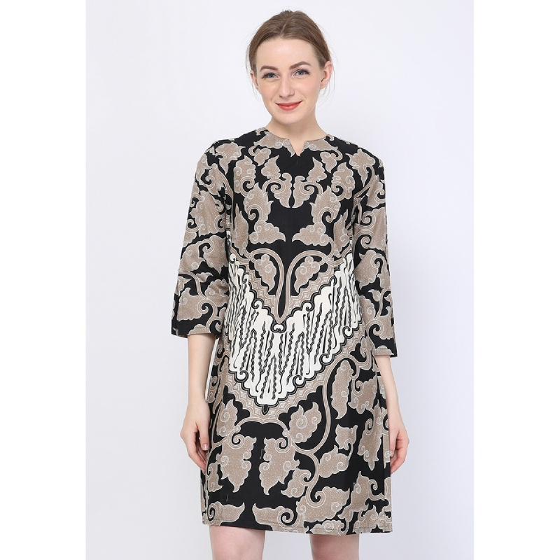 Aksa Batik Emilia Selvina Dress Grey