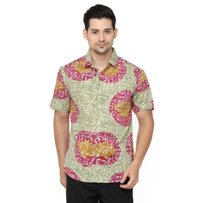 Agrapana Anagata Slim Fit Kemeja Batik Cap
