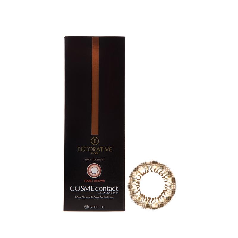 Shobi Hazel Brown (-2.25) 1 Day Disposable Cosme Contact Lens
