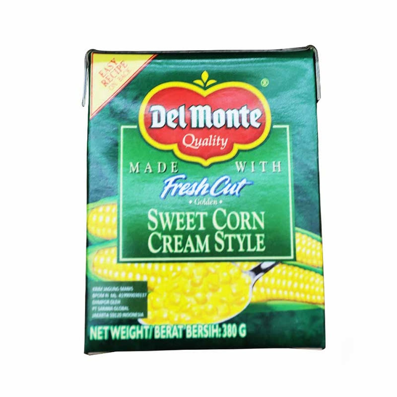 Del Monte Cream Corn Tetra Pack 380 Gr
