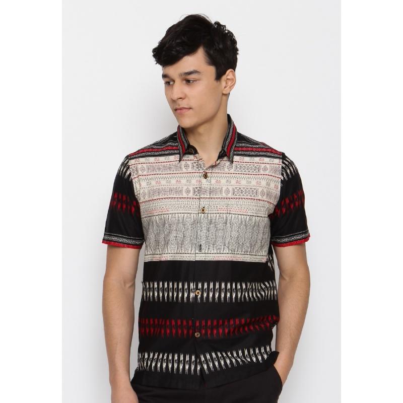 Batik Lengan Pendek HB-J-18703 Black