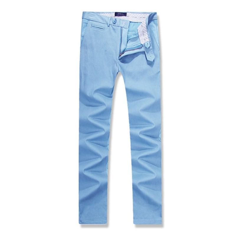 Coin Pocket Cotton Span Pants - Blue