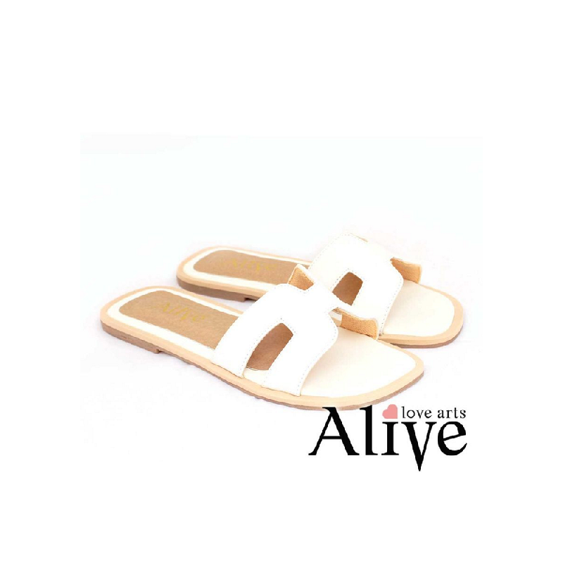 AliveLoveArts Hers Sandals White
