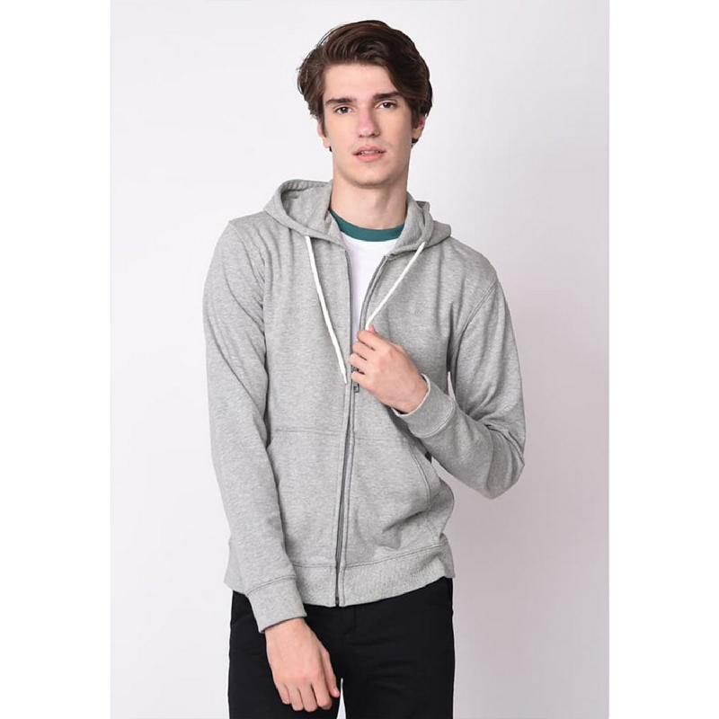Skelly Logo Hooded Zip Swt T1 Grey