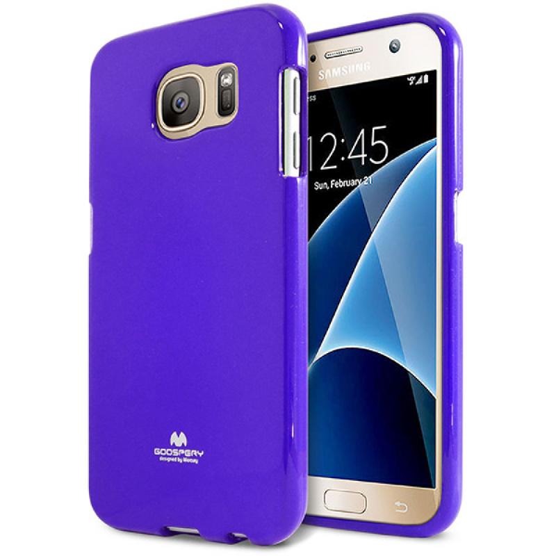 Goospery Jelly Case for Samsung Galaxy S7 - Biru