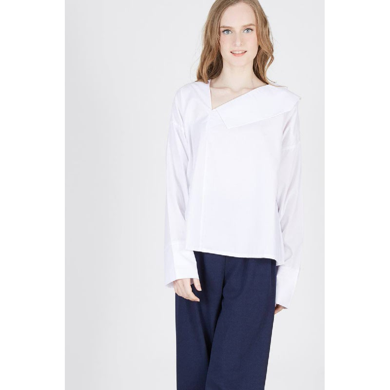 Pulo Collared Top White