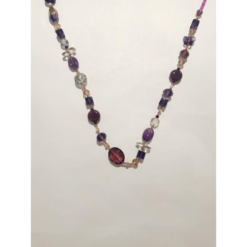 Ballin - Women Necklace ZB N040 Mix Colour Purple
