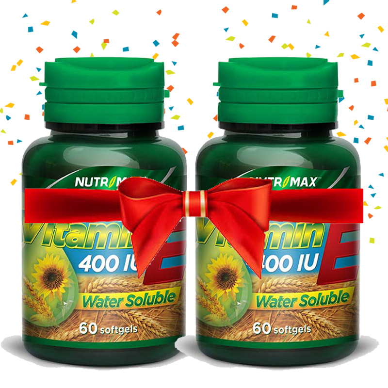 Buy 2 Bottle Nutrimax Vitamin E 400 IU Water Soluble 60 Softgel