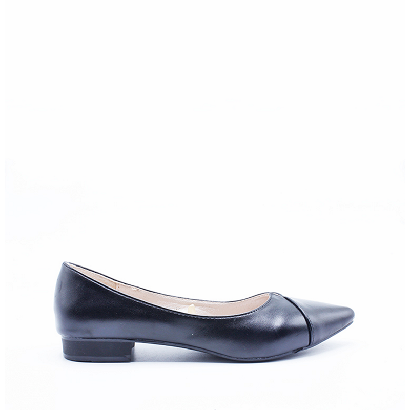 DEA Pointed Flat Shoes 1808-037 Black