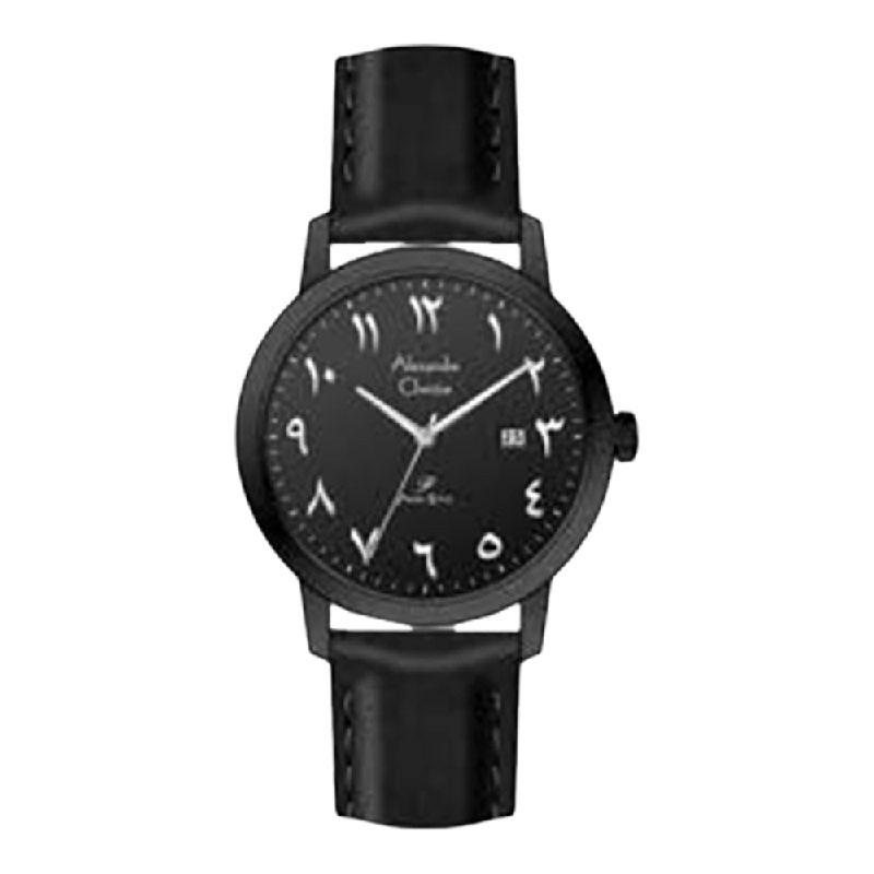 Alexandre Christie Primo Steel AC 1024 LDLIPBA Ladies Black Dial Black Leather Strap