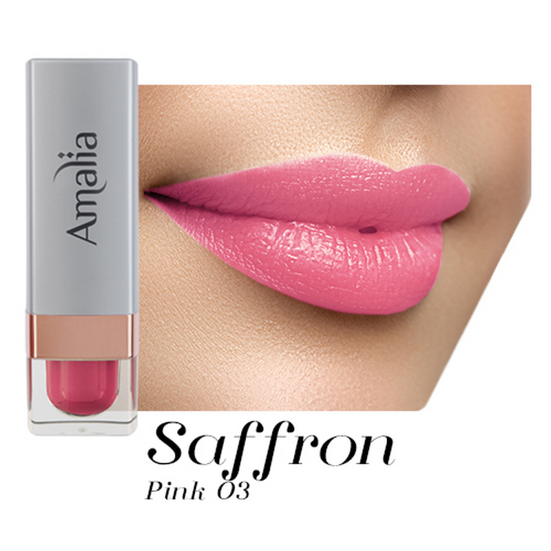 Amalia Satin Lipstick Saffron Pink 03