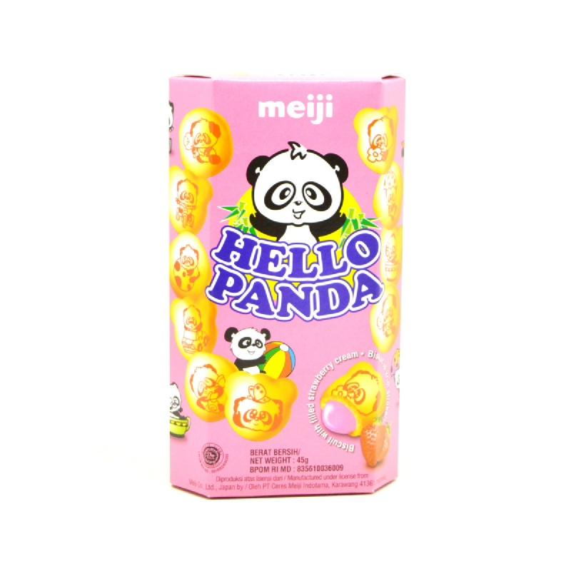 Meiji Hello Panda Strawberry 45 Gr