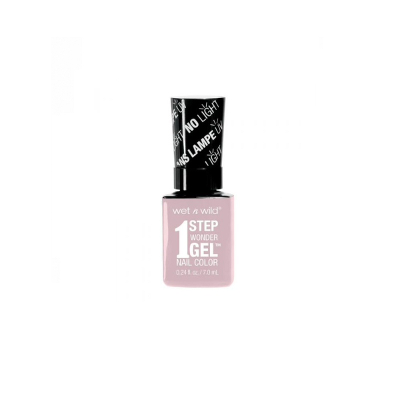 1 Step Wonder Gel Nail Color Pale in Comparison