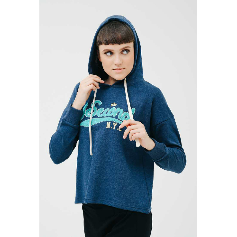 3Second Women Jacket Hoodie T0101 Blue
