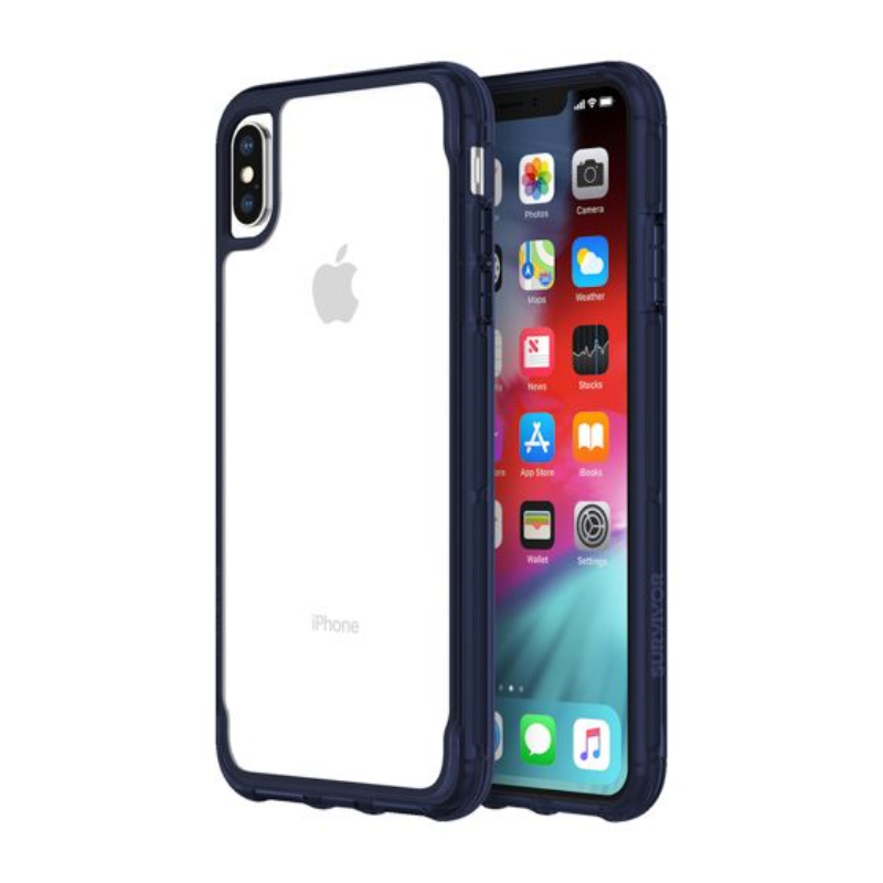 Griffin Survivor Clear for iPhone Xs Max - Clear and Iris (GIP-012-CIR)