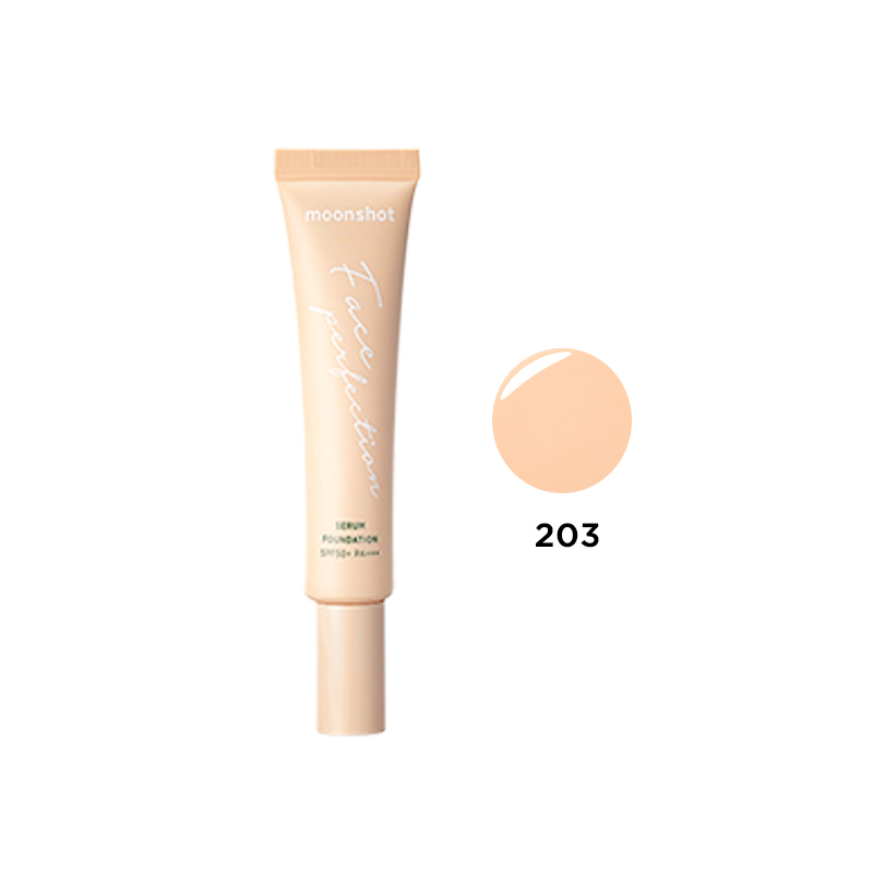 Moonshot Honey Coverlet Face Perfection Serum Foundation - 203