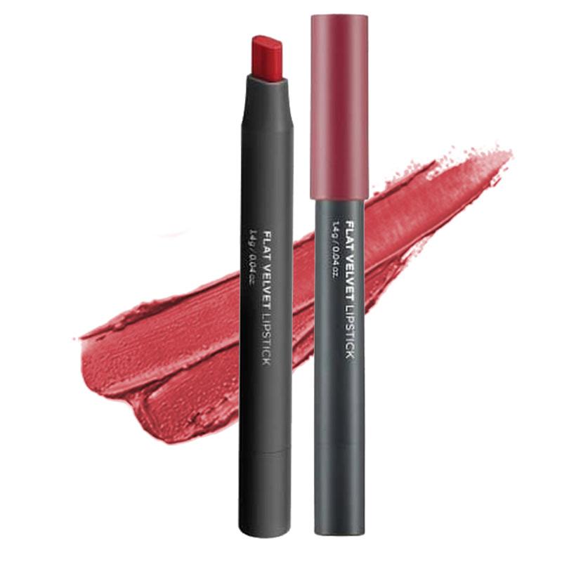 The Face Shop Flat Velvet Lipstick RD02