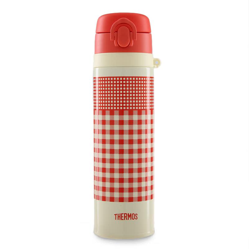 Stainless Vacuum Insulation Slim Bottle 0.55L  Red Orange