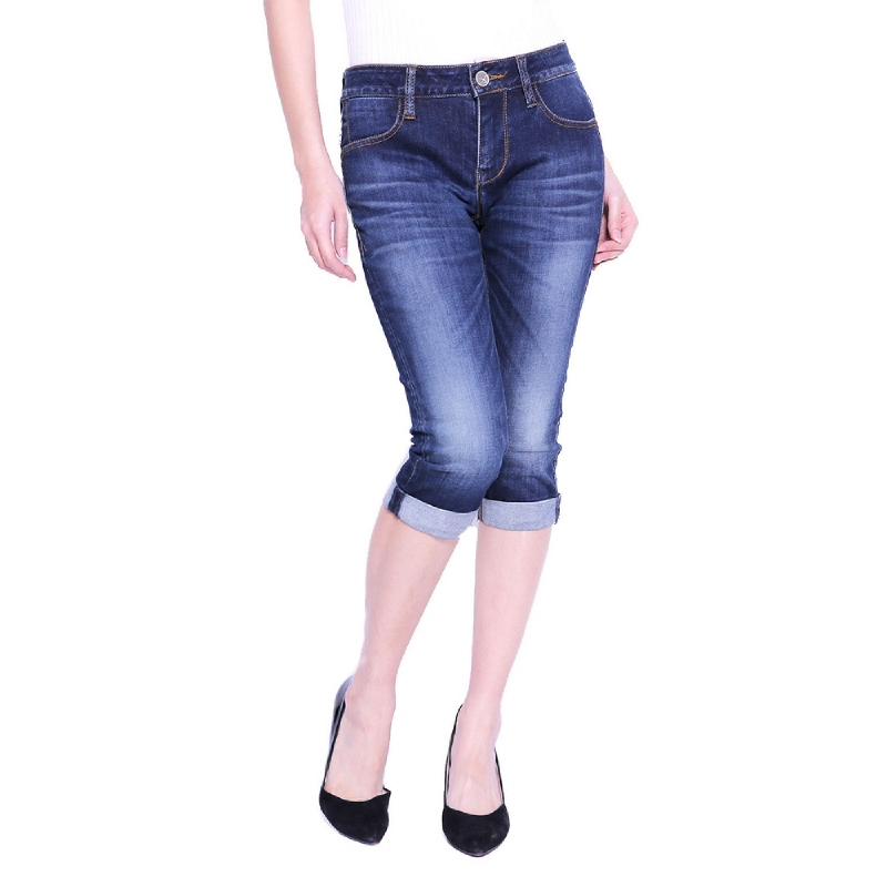 Miyoshi Josei MJ021ABLK16 3 4 Skinny Jeans