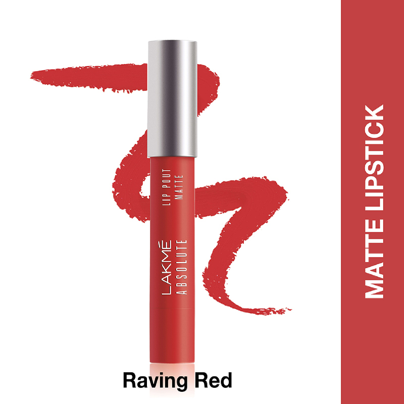 Lakme Absolute Reinvent Lip Pout Matte Raving Red