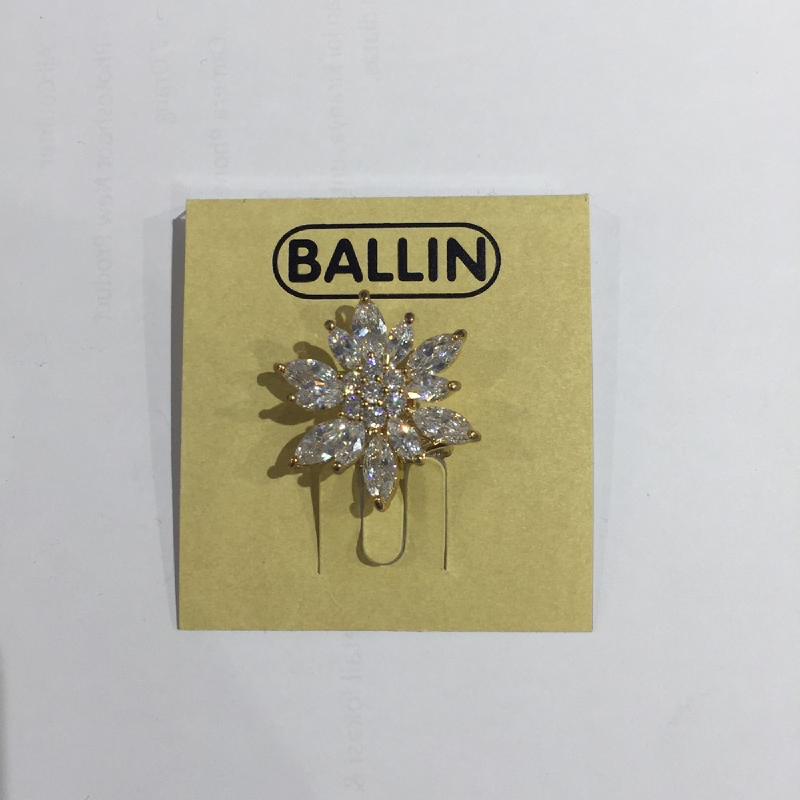 Ballin Women Brooch Flower LF-BRTS00010F8G White