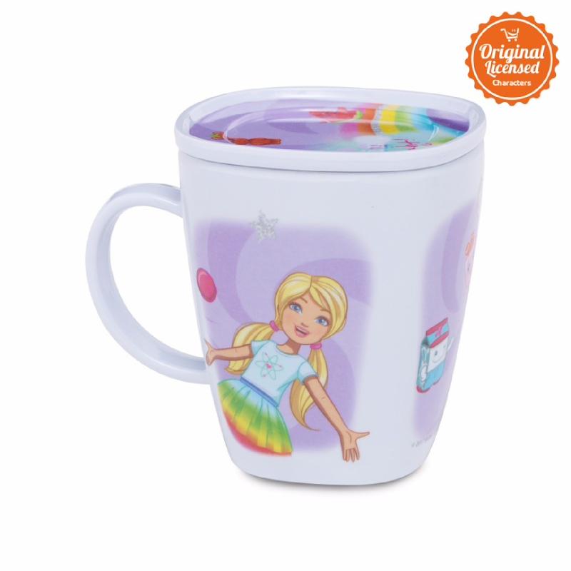 Barbie Square Mug With Coaster
