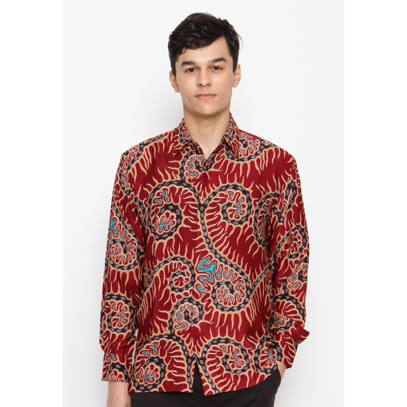 Batik Lengan Panjang KB-32975 Red