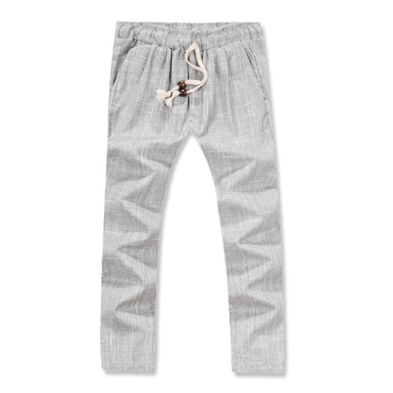 Lux Linen Washing Pants - Light Grey