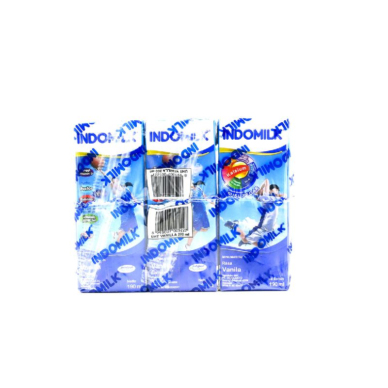 Indomilk Uht Reguler Vanilla Multipack 3 X 190 Ml