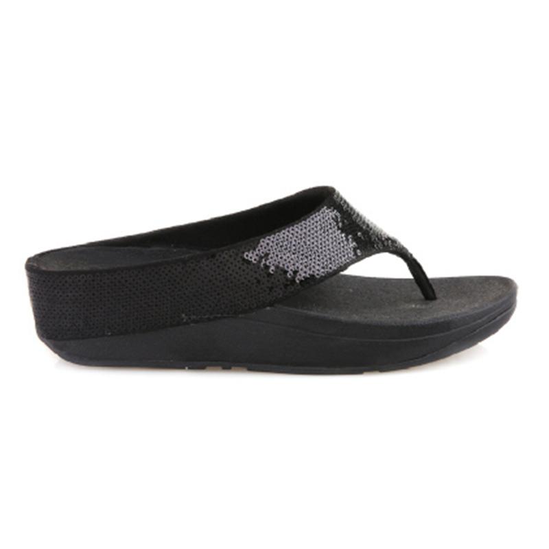 Fitflop Ringer Sequin Sandals Black