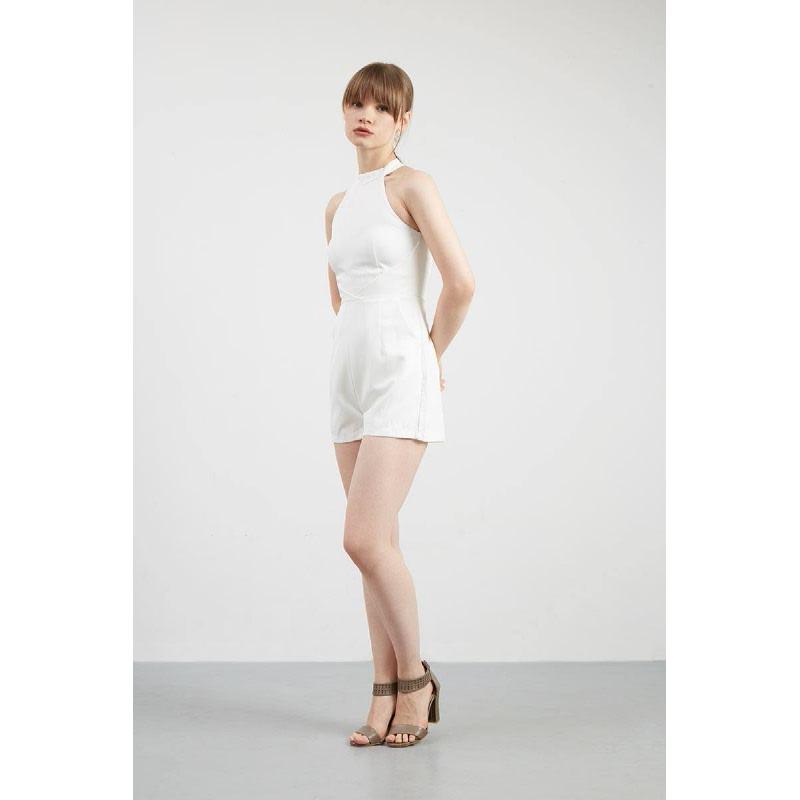 Gwen Kaiser Playsuit in White