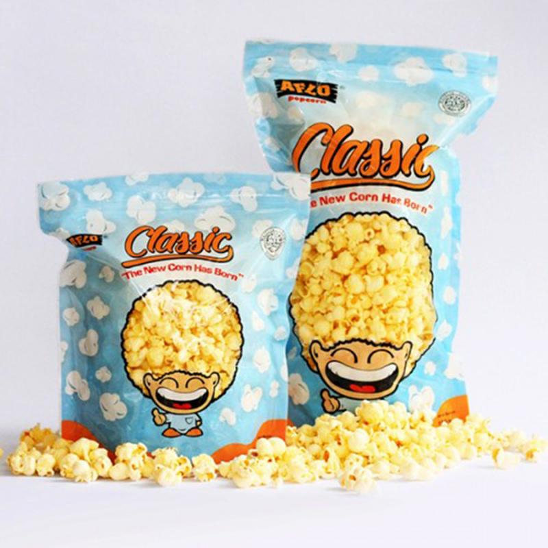 Alfo Popcorn - Aflo Classic Keju 100 gr (isi 2 Pack)