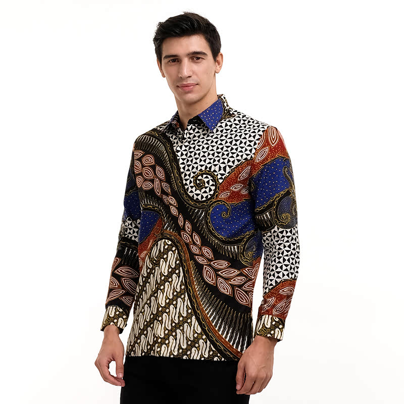 Batik Semar Frkol Db Lampah Pahargyan Shirt Blue