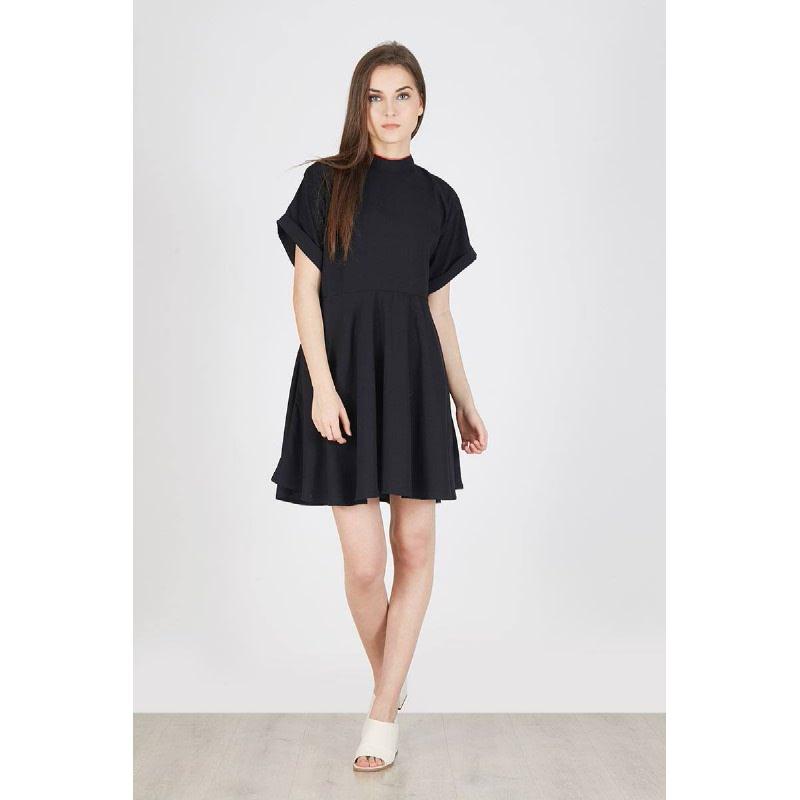Pania Boxy Dress Black