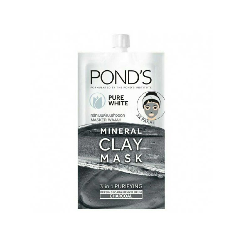 Ponds Pure White Mineral Clay Mask 8 Gr