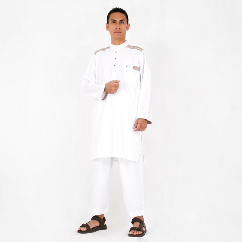 Al-Isra Setelan Cordova Pakaian Gamis Pria (Putih)